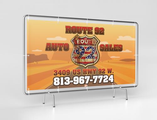 Route 92 Auto Sales Banner Plant City, FL